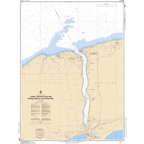 Central and Arctic Region Charts :CHS Chart 2043: Lower Niagara River and Approaches