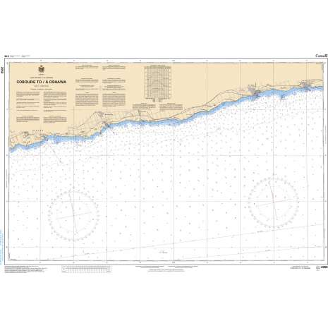 Central and Arctic Region Charts :CHS Chart 2058: Cobourg to/à Oshawa