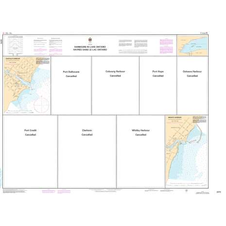 Central and Arctic Region Charts :CHS Chart 2070: Harbours in Lake Ontario/Havres dans le lac Ontario