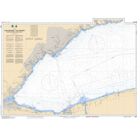 Central and Arctic Region Charts :CHS Chart 2077: Lake Ontario/Lac Ontario (Western Portion/Partie Ouest)