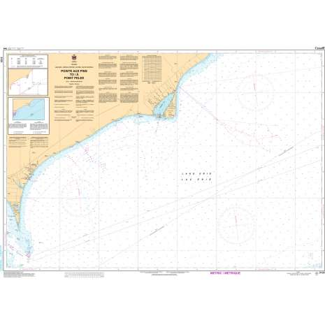 Central and Arctic Region Charts :CHS Chart 2122: Pointe aux Pins to/à Point Pelee