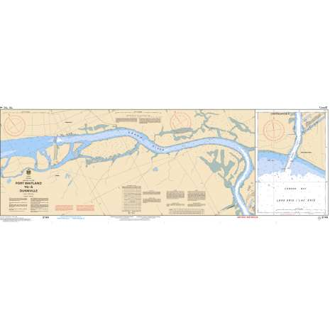 Central and Arctic Region Charts :CHS Chart 2140: Port Maitland to/à Dunnville