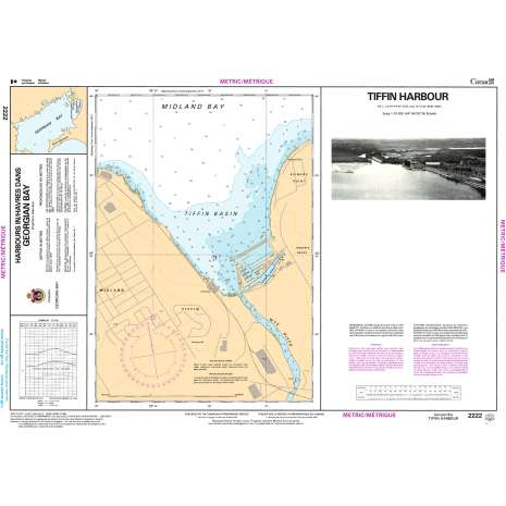 Central and Arctic Region Charts :CHS Chart 2222: Tiffin Harbour