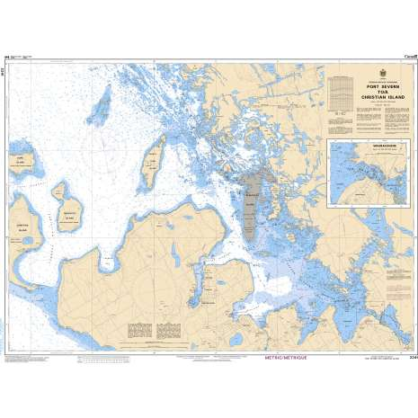 Central and Arctic Region Charts :CHS Chart 2241: Port Severn to/à Christian Island
