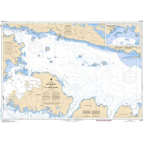 Central and Arctic Region Charts :CHS Chart 2251: Meldrum Bay to/à St.Joseph Island