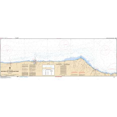 Central and Arctic Region Charts :CHS Chart 2261: Bayfield to/à Douglas Point