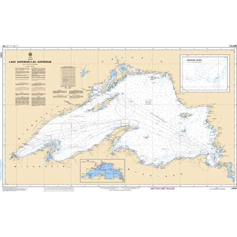 Central and Arctic Region Charts :CHS Chart 2300: Lake Superior/Lac Supérieur