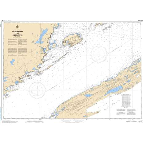 Central and Arctic Region Charts :CHS Chart 2311: Thunder Cape to/à Pigeon River