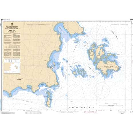 Pacific Region Charts :CHS Chart 3424: Approaches to/Approches à Oak Bay