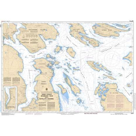 Pacific Region Charts :CHS Chart 3441: Haro Strait, Boundary Pass and/et Satellite Channel