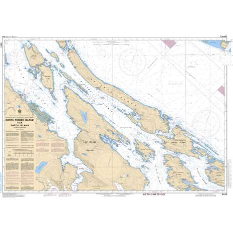 Pacific Region Charts :CHS Chart 3442: North Pender Island to/à Thetis Island