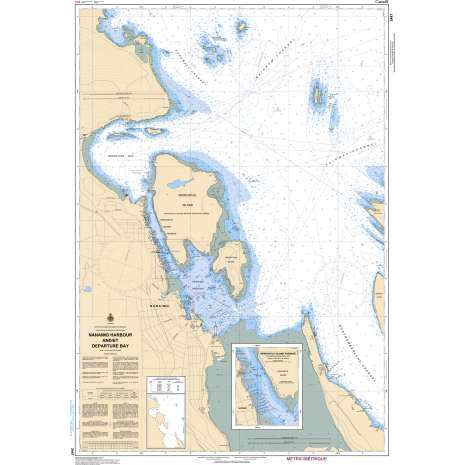 Pacific Region Charts :CHS Chart 3447: Nanaimo Harbour and/et Departure Bay