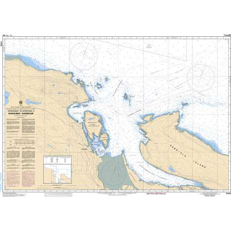 Pacific Region Charts :CHS Chart 3458: Approaches to/Approches à Nanaimo Harbour