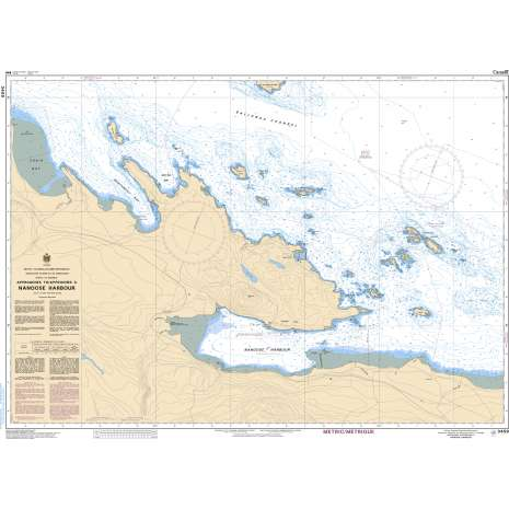 Pacific Region Charts :CHS Chart 3459: Approaches to/Approches à Nanoose Harbour