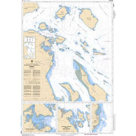Pacific Region Charts :CHS Chart 3479: Approaches to/Approches à Sidney