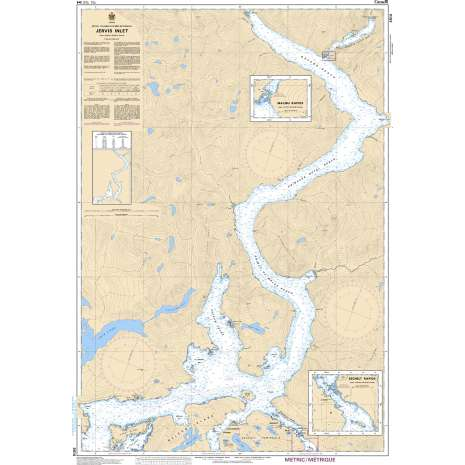 Pacific Region Charts :CHS Chart 3514: Jervis Inlet