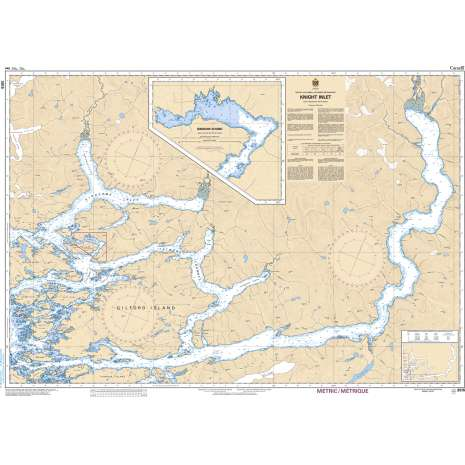 Pacific Region Charts :CHS Chart 3515: Knight Inlet