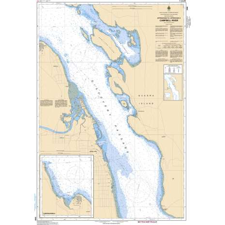 Pacific Region Charts :CHS Chart 3540: Approaches to/Approches à Campbell River