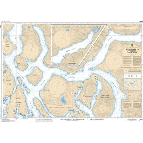 Pacific Region Charts :CHS Chart 3541: Approaches to/Approches à Toba Inlet