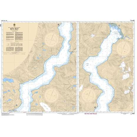 Pacific Region Charts :CHS Chart 3542: Bute Inlet