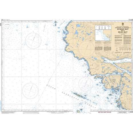Pacific Region Charts :CHS Chart 3550: Approaches to/Approches à Seymour Inlet and/et Belize Inlet