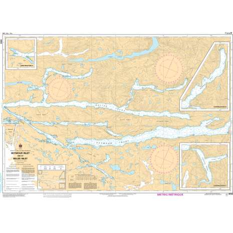 Pacific Region Charts :CHS Chart 3552: Seymour Inlet and/et Belize Inlet