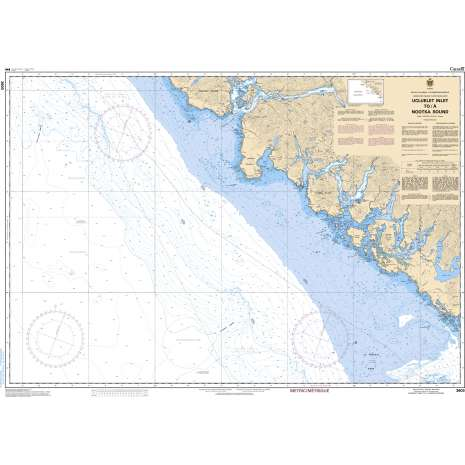Pacific Region Charts :CHS Chart 3603: Ucluelet Inlet to/à Nootka Sound