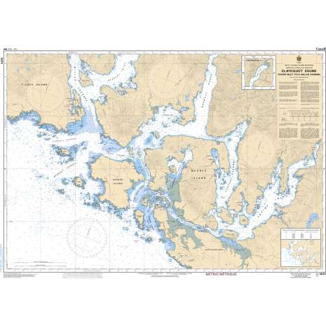 Pacific Region Charts :CHS Chart 3673: Clayoquot Sound, Tofino Inlet to/à Millar Channel