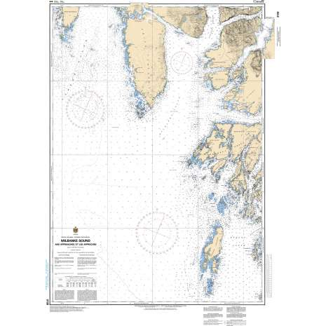 Pacific Region Charts :CHS Chart 3728: Milbanke Sound and Approaches/et les approches