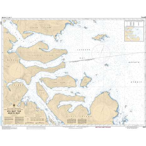Pacific Region Charts :CHS Chart 3807: Atli Inlet to/à Selwyn Inlet