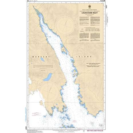 Pacific Region Charts :CHS Chart 3857: Louscoone Inlet