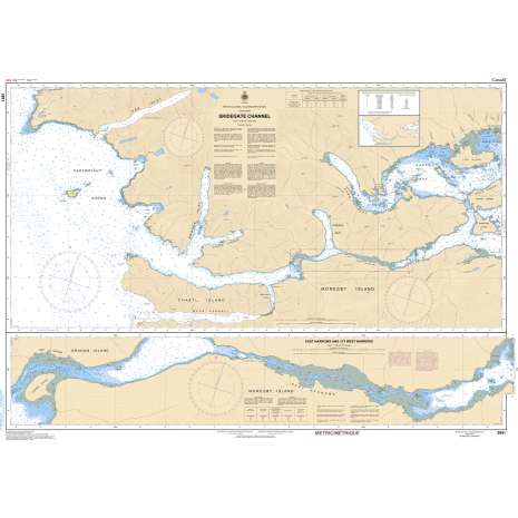 Pacific Region Charts :CHS Chart 3891: Skidegate Channel