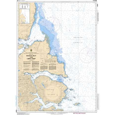 Pacific Region Charts :CHS Chart 3894: Selwyn Inlet to/à Lawn Point