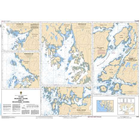 Pacific Region Charts :CHS Chart 3910: Plans - Milbanke Sound and/et Beauchemin Channel
