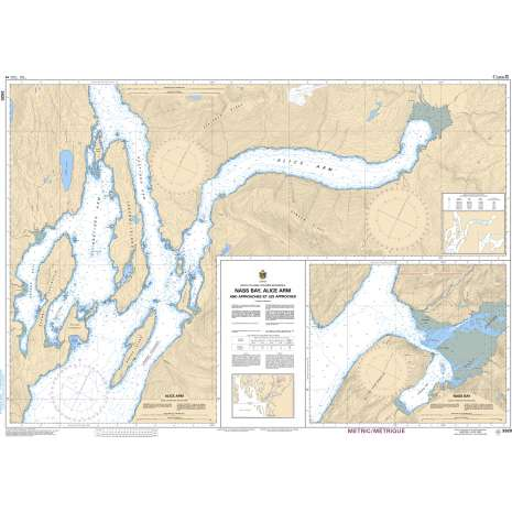 Pacific Region Charts :CHS Chart 3920: Nass Bay, Alice Arm and Approaches/et les approches