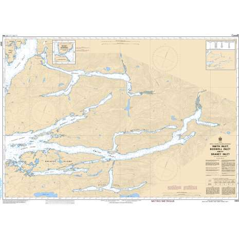 Pacific Region Charts :CHS Chart 3931: Smith Inlet, Boswell Inlet and/et Draney Inlet