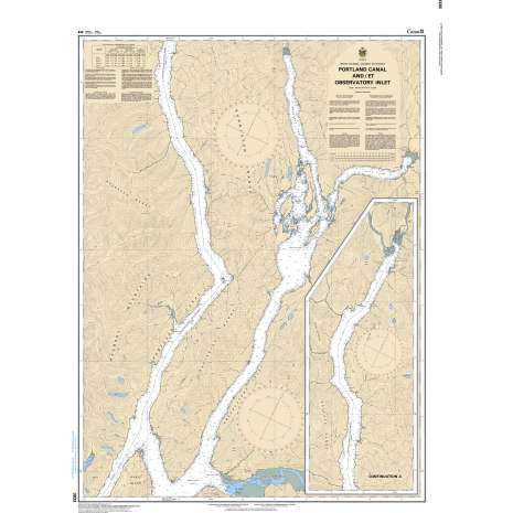 Pacific Region Charts :CHS Chart 3933: Portland Canal and/et Observatory Inlet