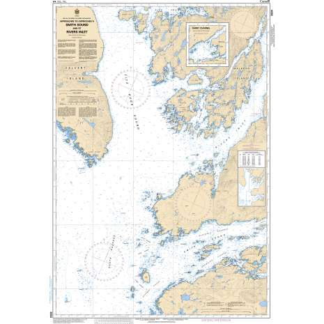 Pacific Region Charts :CHS Chart 3934: Approaches to/Approches à Smith Sound and/et Rivers Inlet
