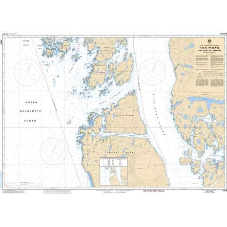Pacific Region Charts :CHS Chart 3935: Hakai Passage and Vicinity/et Environs