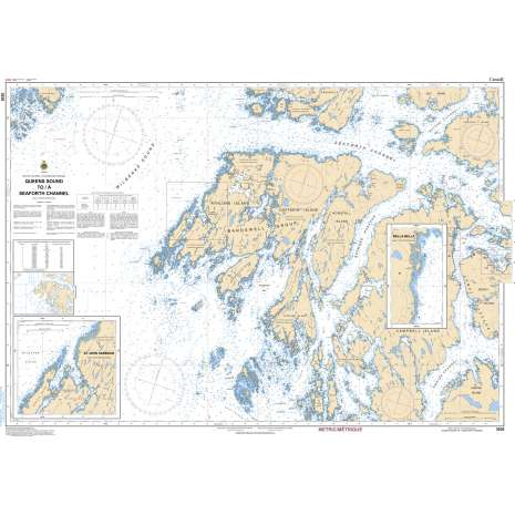 Pacific Region Charts :CHS Chart 3938: Queens Sound to/à Seaforth Channel