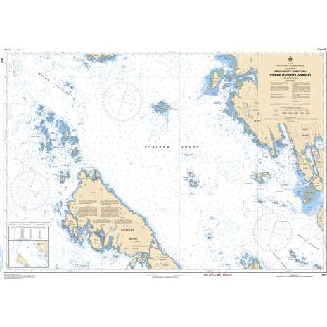 Pacific Region Charts :CHS Chart 3957: Approaches to/Approches à Prince Rupert Harbour
