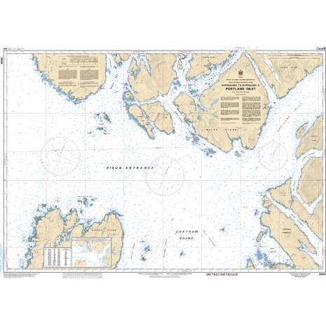 Pacific Region Charts :CHS Chart 3960: Approaches to/Approches à Portland Inlet