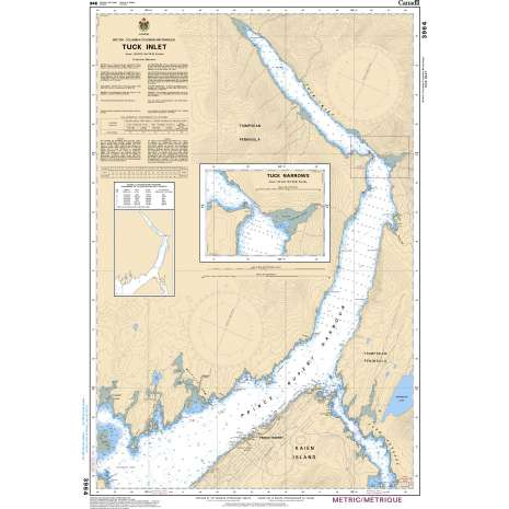 Pacific Region Charts :CHS Chart 3964: Tuck Inlet