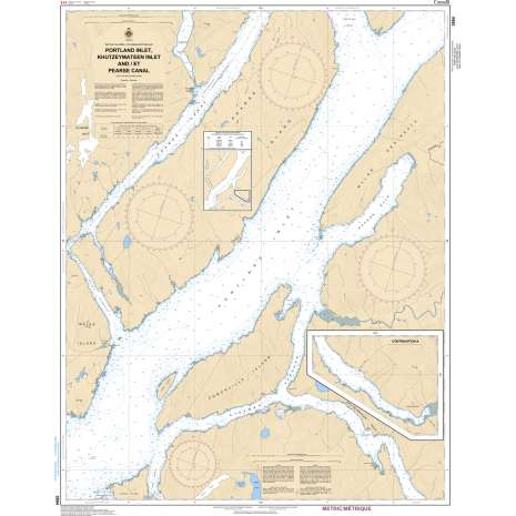 Pacific Region Charts :CHS Chart 3994: Portland Inlet, Khutzeymateen Inlet and Pearse Canal