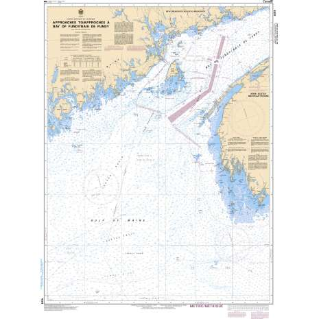 Atlantic Region Charts :CHS Chart 4011: Approaches to/Approches à Bay of Fundy/Baie de Fundy