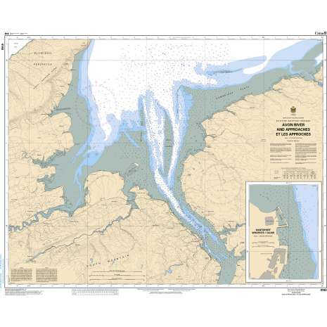 Atlantic Region Charts :CHS Chart 4140: Avon River and Approaches/et les approches