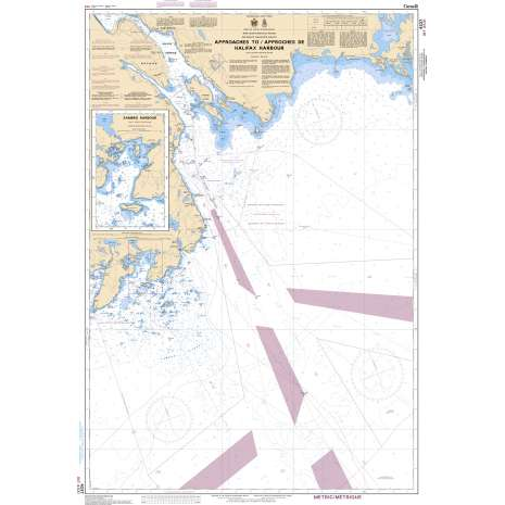 Atlantic Region Charts :CHS Chart 4237: Approaches to/Approches au Halifax Harbour