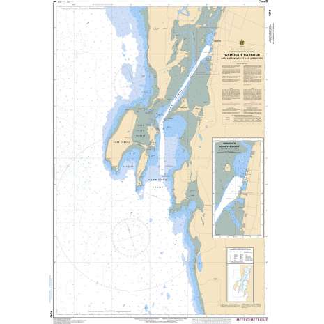 Atlantic Region Charts :CHS Chart 4245: Yarmouth Harbour and Approaches/et les approches