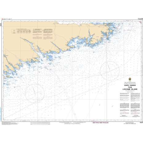 Atlantic Region Charts :CHS Chart 4321: Cape Canso to Liscomb Island