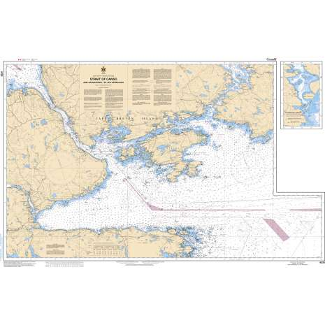 Atlantic Region Charts :CHS Chart 4335: Strait of Canso and Approaches/et les approches